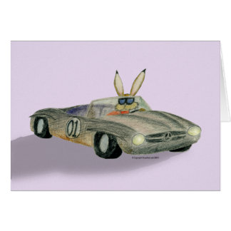 Car Racing Rabbit Card