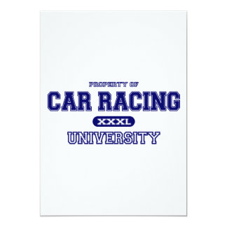 Car Racing University 13 Cm X 18 Cm Invitation Card