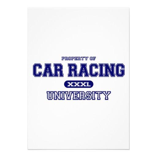 Car Racing University Personalized Invites