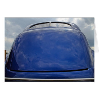 Car reflection greeting cards