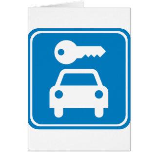 Car Rental Highway Sign Card