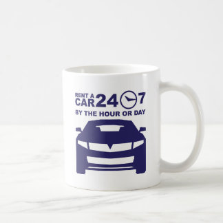 Car rentals by the hour or day 24-7 coffee mug