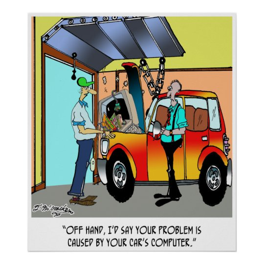 Car Repair Cartoon 8532 Poster