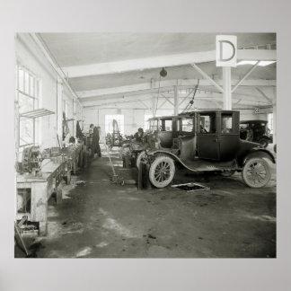 Car Repair Garage, early 1900s Poster