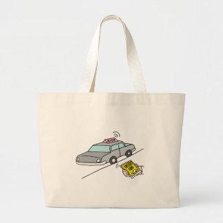 Car ride app service jumbo tote bag