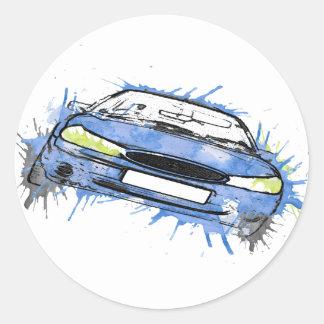 car round sticker