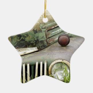 Car Rust Antique Vehicle Old Rusted Auto Christmas Ornament