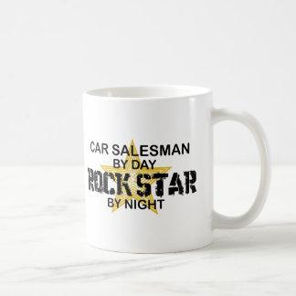 Car Salesman Rock Star Basic White Mug