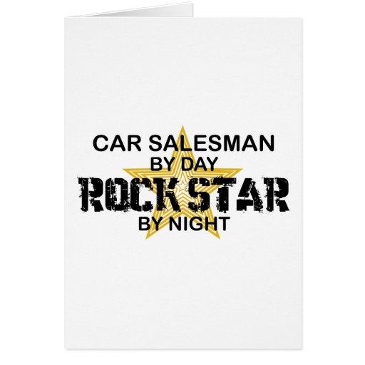 Car Salesman Rock Star Greeting Card
