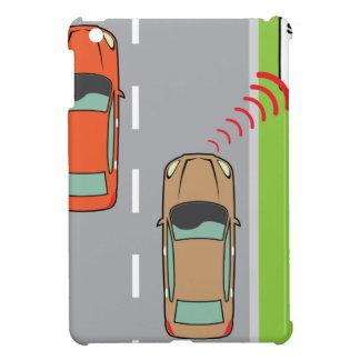 Car scans speed limit sign iPad mini case