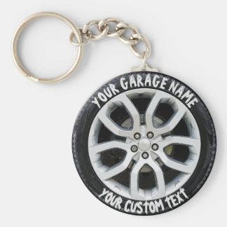 Car Service Repair Garage Owner Tire Wheel Custom Key Ring
