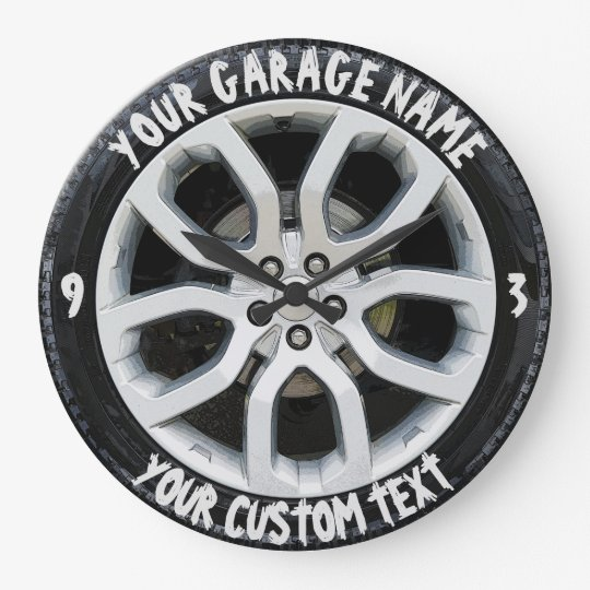 Car Service Repair Garage Owner Tire Wheel Custom