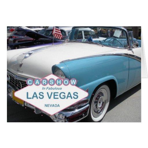 Car Show In Fabulous Las Vegas Card