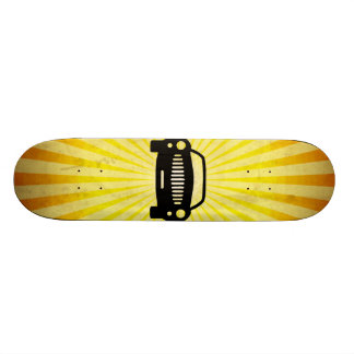 Car Silhouette Yellow Skateboard Decks
