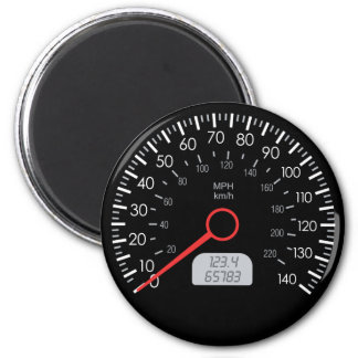 CAR SPEEDOMETER FRIDGE MAGNET