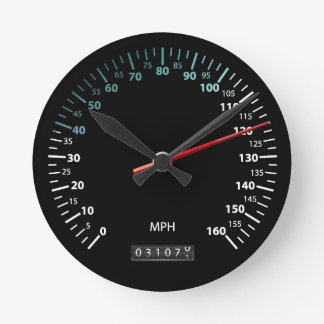 Car Speedometer Round Clock