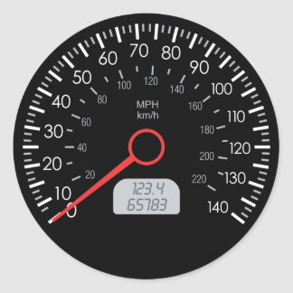 CAR SPEEDOMETER ROUND STICKER