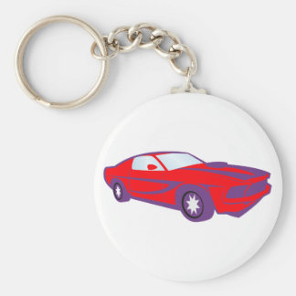 Car sports car of sport car roadster basic round button key ring