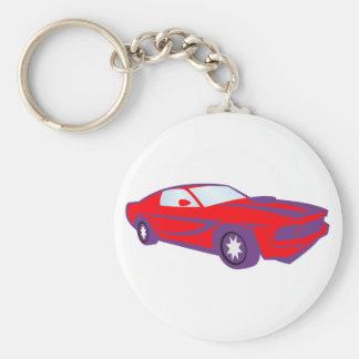 Car sports car of sport car roadster key chain