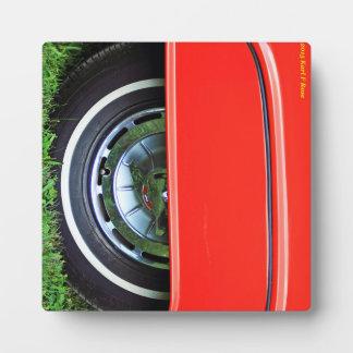Car tire plaque