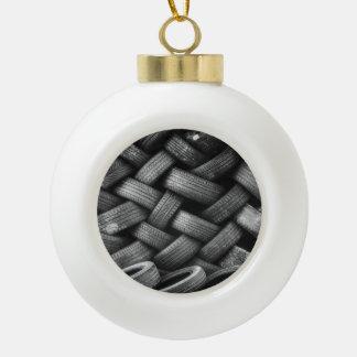 Car tires pattern ceramic ball decoration
