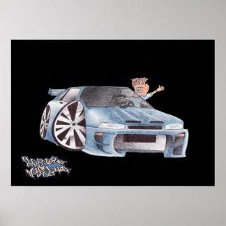CAR TOON SUBARU print/poster Poster