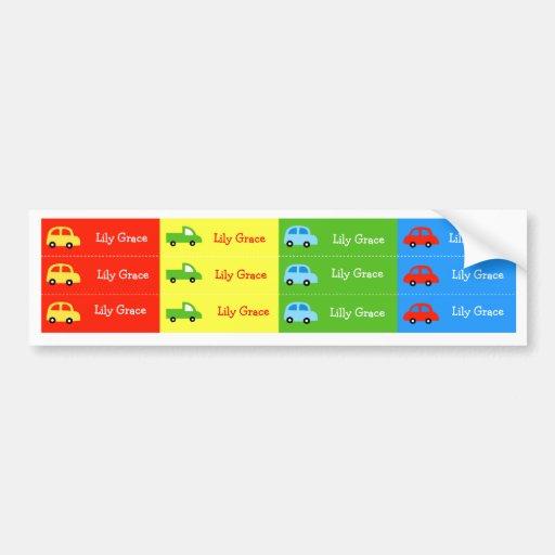 Car Truck Kids  Suppy Cup Waterproof labels Bumper Sticker