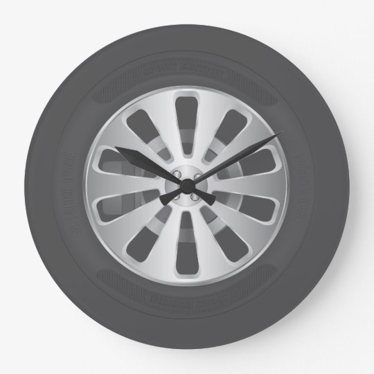Car tyre large clock