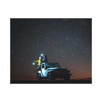Car under the Stars Canvas Print
