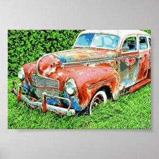 Car Vintage  Rustic Car Poster