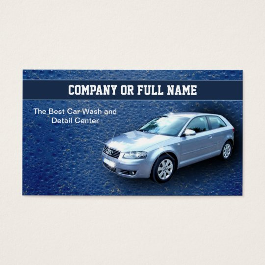 car wash auto details business cards