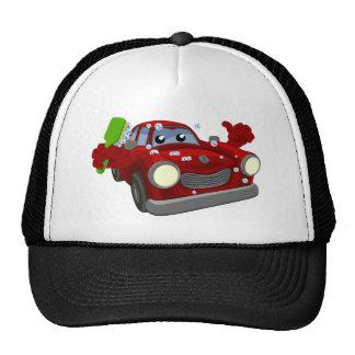Car Wash Cartoon Mascot Cap