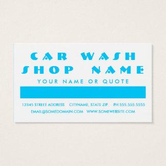 CAR WASH customer appreciation (mod squares) Business Card