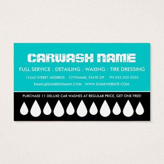 car wash punch card
