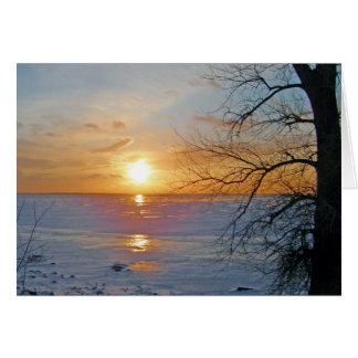 Car Window Sunset Greeting Card
