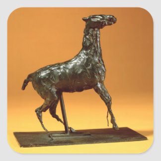 Caracoling Horse (bronze) Square Sticker