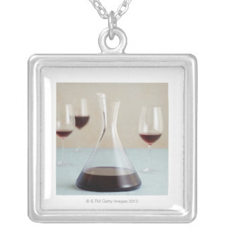 Carafe of red wine custom necklace