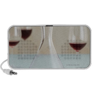 Carafe of red wine laptop speakers