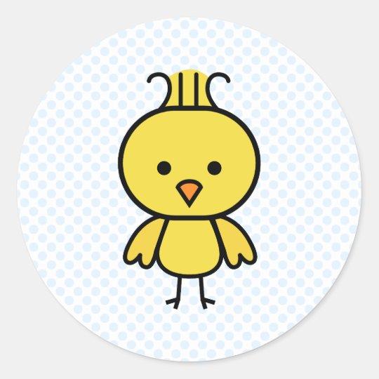 Caraline canary classic round sticker