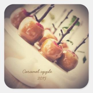 caramel apple square sticker