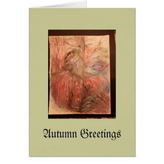 Caramel Apples and Cobwebs Greeting Card