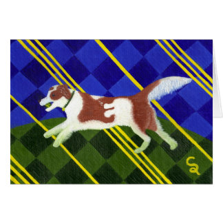 Caramel Border Collie Greeting Card