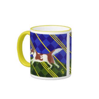 Caramel Border Collie Ringer Mug