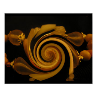 """""""Caramel Candy Bangles"""" - Jewelry Image Poster"""