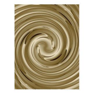 Caramel Cream Twist Postcard