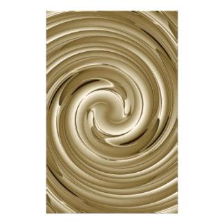 Caramel Cream Twist Customized Stationery