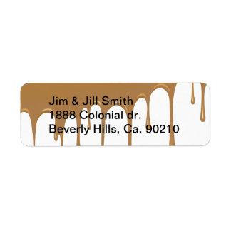Caramel Drip Return Address Label