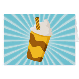Caramel Milkshake Greeting Card