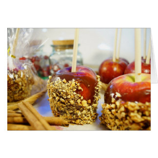 Caramel Peanut Apples Greeting Card