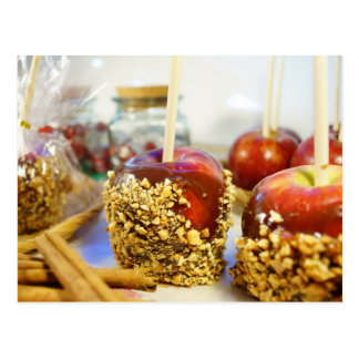 Caramel Peanut Apples Postcard